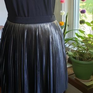 Express Metallic Silver Mini Skirt Size S
